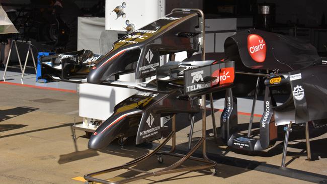 Ecco le prime modifiche sulla Sauber C33 leggera