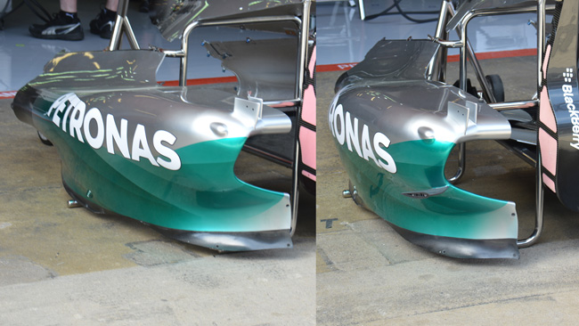 Mercedes: a metà pancia un flap oppure no?