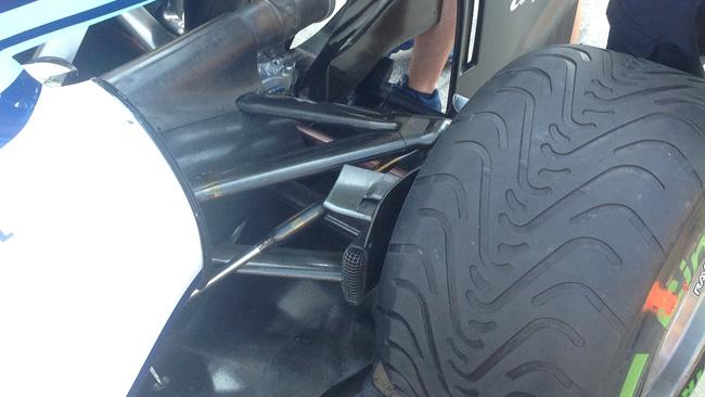 Williams: nuove prese dei freni posteriori