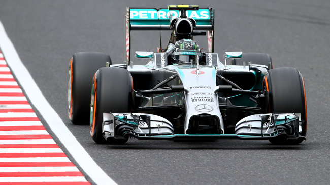 Rosberg in pole a Suzuka nel dominio Mercedes