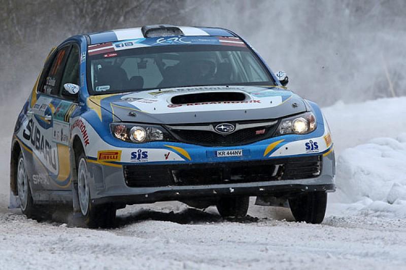 Butvilas e il Subaru Poland Rally Team nell'ERC 2015