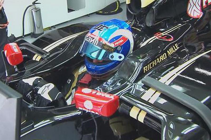 Palmer sulla Lotus E23 Hybrid nelle libere 1