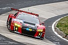 All four Audi R8 LMS cars on the first five rows of the grid for the Nürburgring 24 Hours