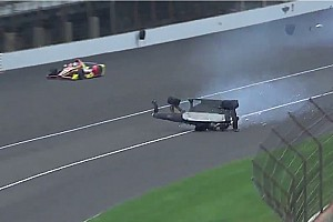 IndyCar Breaking news Hinchliffe transported to local hospital after violent crash