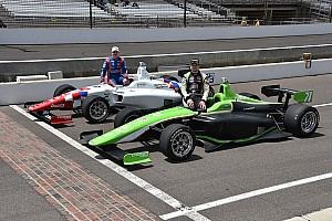 Indy Lights Qualifying report Indy Lights lap record decimated as Ethan Ringel snags pole for Freedom 100