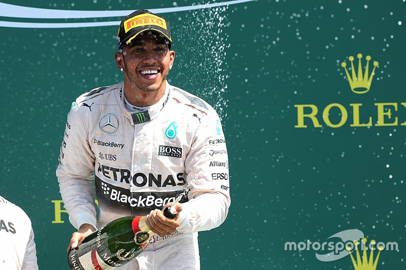 Hamilton gana en la Gran Bretaña