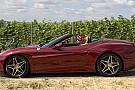 Vettel a Wiesbaden si rilassa con la Ferrari California T