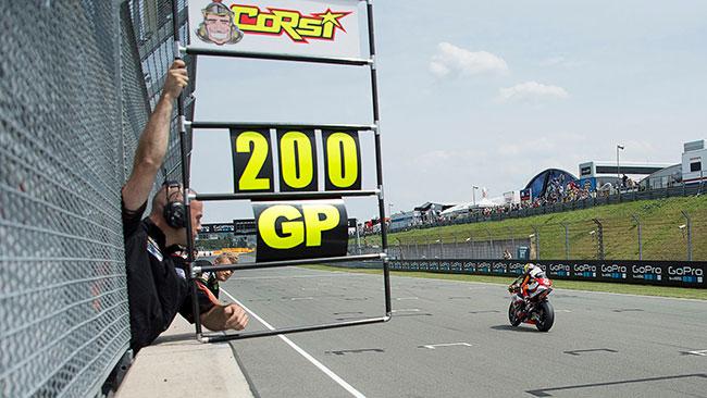 Corsi festeggia i suoi 200 Gp con un bel quarto posto