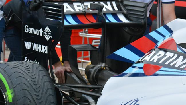 Williams: c'è il Monkey seat per non far stallare l'ala