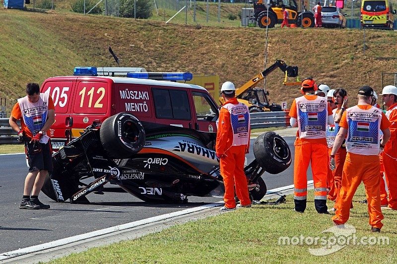 Sahara Force India's day of practice at the Hungaroring was cut short