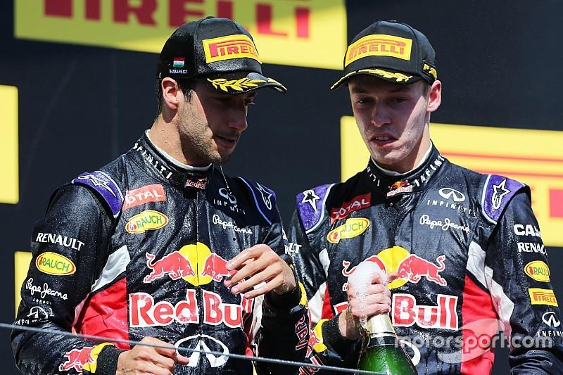 First podium for Kvyat in Red Bull 2-3 at Hungaroring