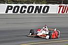 Vidéo - Helio Castroneves en pole à Pocono, gros crash pour Kimball