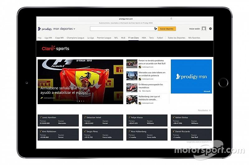 Neue Partnerschaft zwischen Motorsport.com und Prodigy/MSN in Lateinamerika