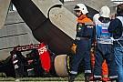 Russian GP: Practice halted after big Sainz accident