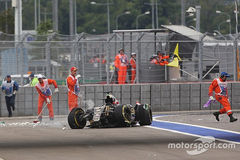 Grosjean crash not down to failure, says Lotus