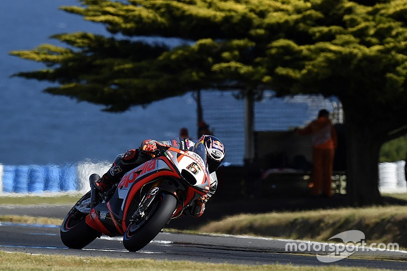 Weekend in chiaroscuro per l'Aprilia a Phillip Island