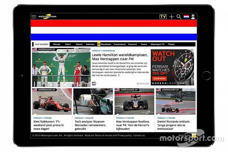 Motorsport.com abre su versión en holandés