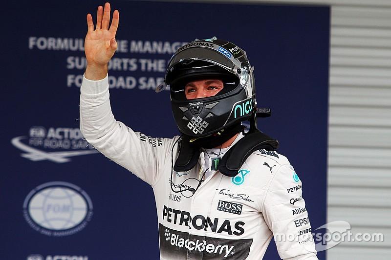 Course - Rosberg avec assurance; chemin de croix pour Ferrari