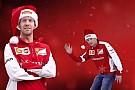 Raikkonen rouba cena em vídeo de natal da Ferrari