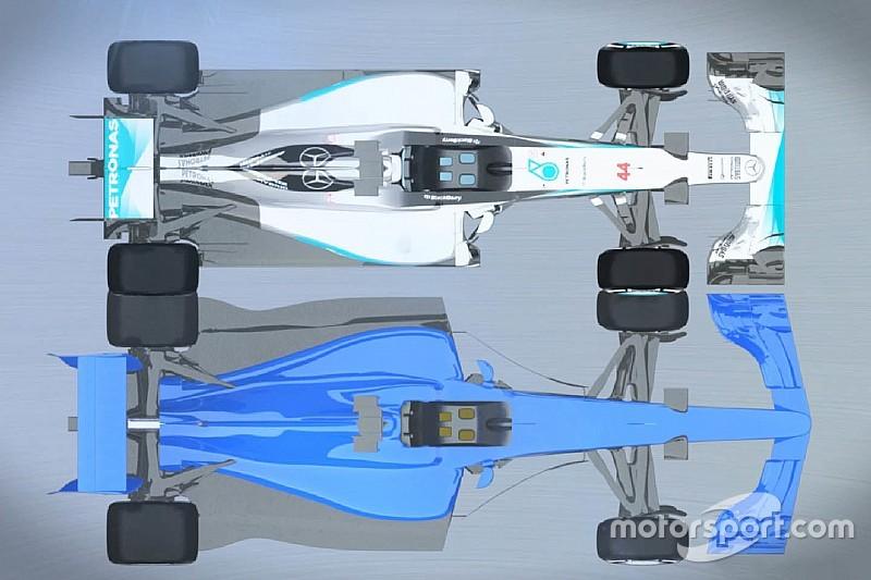 Video: Comparación entre los autos de F1 de 2017 y los actuales
