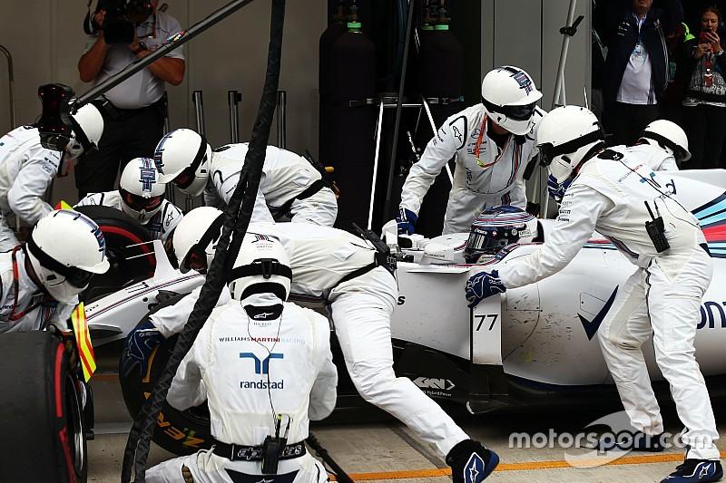 Bottas culpa a los birlos por los problemas de Williams en los boxes