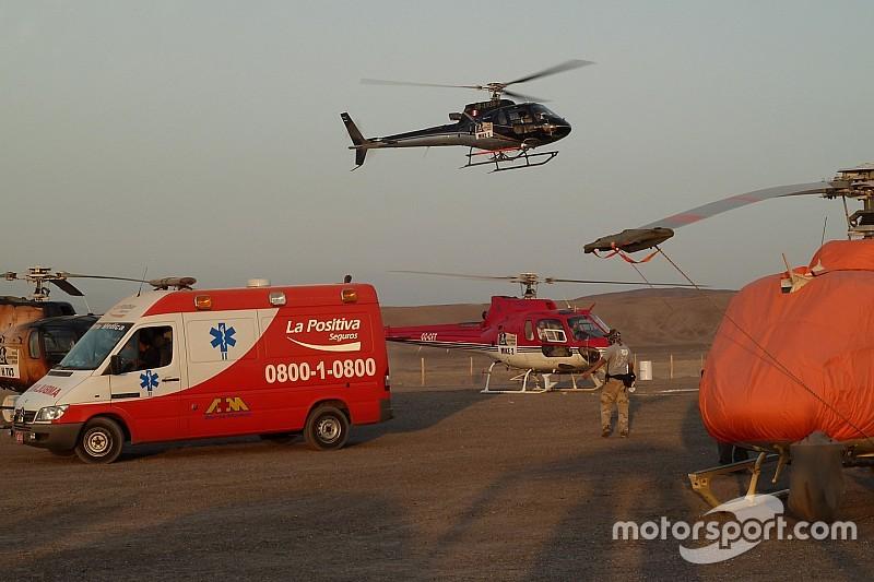 Une victime dans un état grave après l'accident du prologue