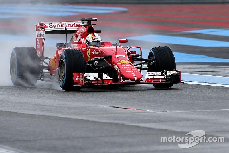 Vettel en la parte superior en Paul Ricard