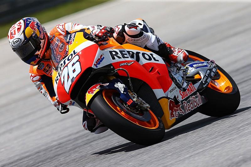 Honda aun tiene problemas con el motor y chasis, dice Pedrosa