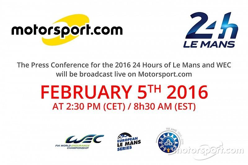 Motorsport.com transmite ao vivo anúncio da lista de pilotos para Le Mans e WEC