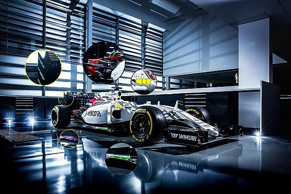 La Williams con l'arco della Mercedes