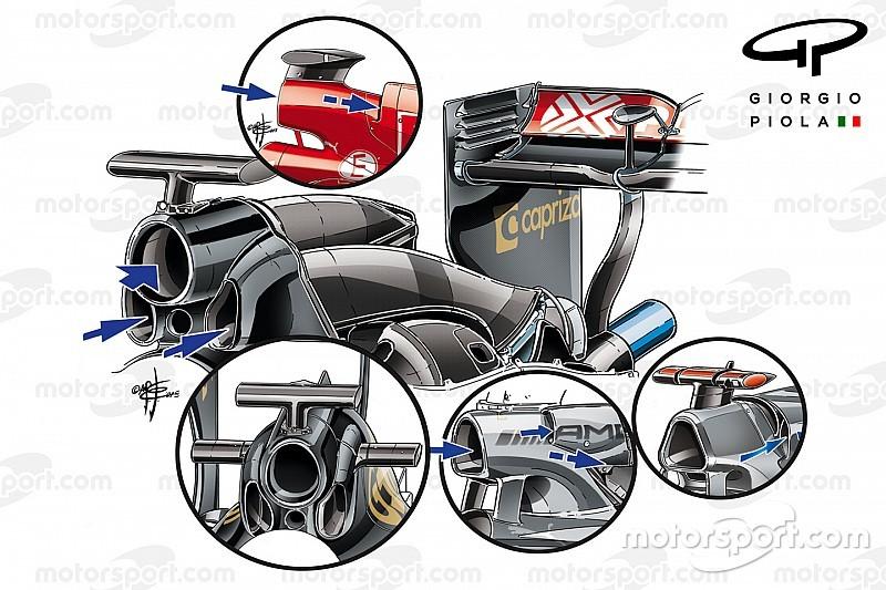 Tech analyse: F1-teams zoeken tijdwinst via airbox-ontwerp