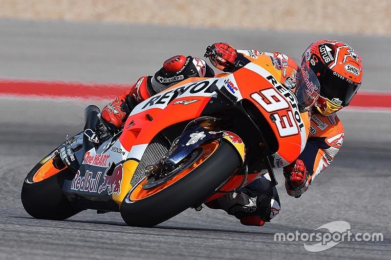 Marc Marquez scoort pole in Amerika, nipt sneller dan Lorenzo