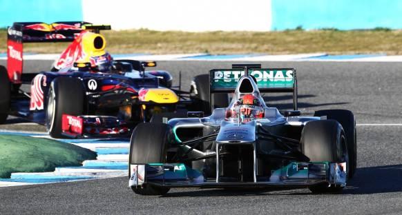 İkinci günün en hızlısı Schumacher