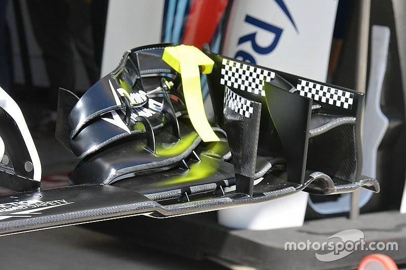 Williams: prove di flessione dei flap sull'ala nuova