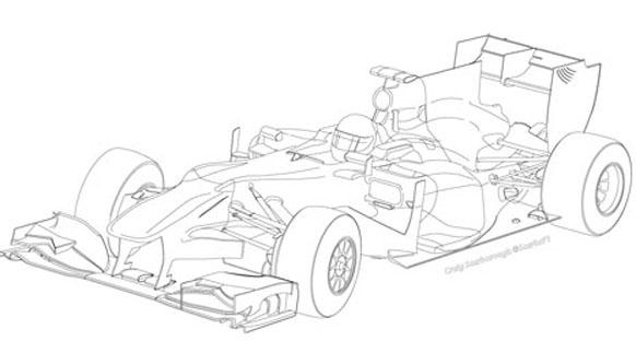 Tahmini bir F1 aracı