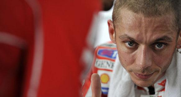 Rossi tekrar pist döndü