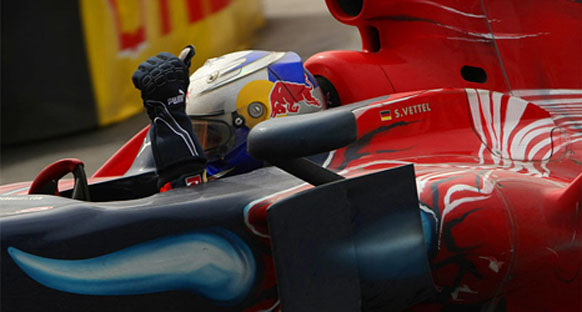 Toro Rosso: 'Vettel inanılmazsın'