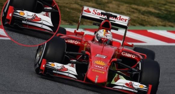 Ferrari SF15T - Ön Kanat Değişiklikleri