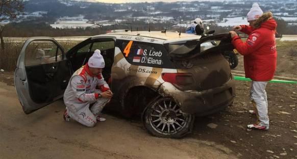 Sebastien Loeb kaza yaptı, Ogier lider
