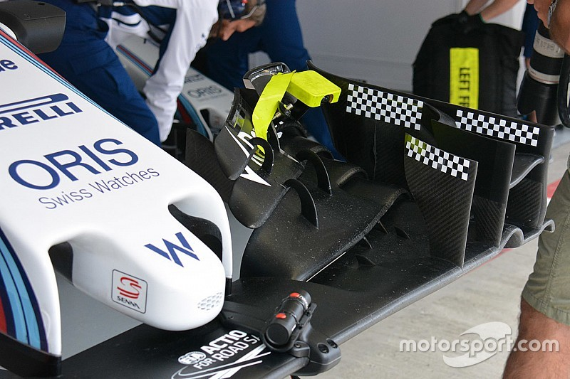 Formel-1-Technik: Flexibler Frontflügel am Williams FW38