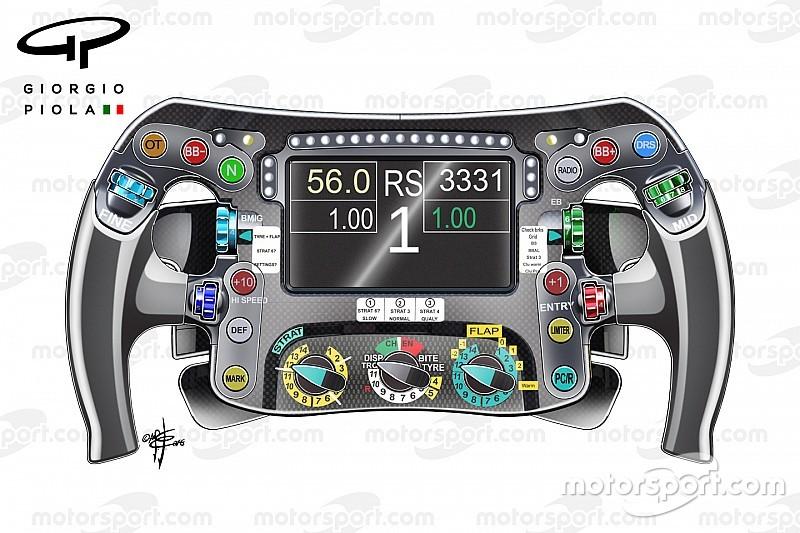 Formel-1-Technik: Die Geheimnisse des Mercedes-Lenkrads von Nico Rosberg