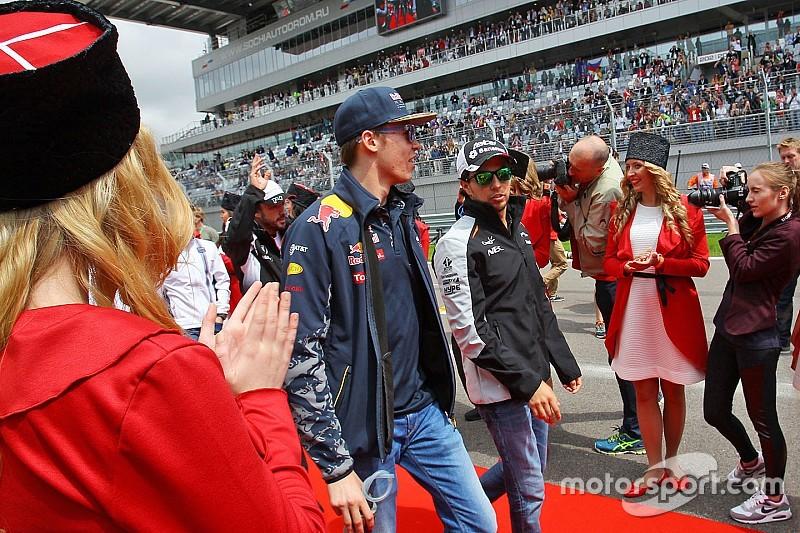 "Pérez defiende a Kvyat: ""Merece el asiento en Red Bull"""