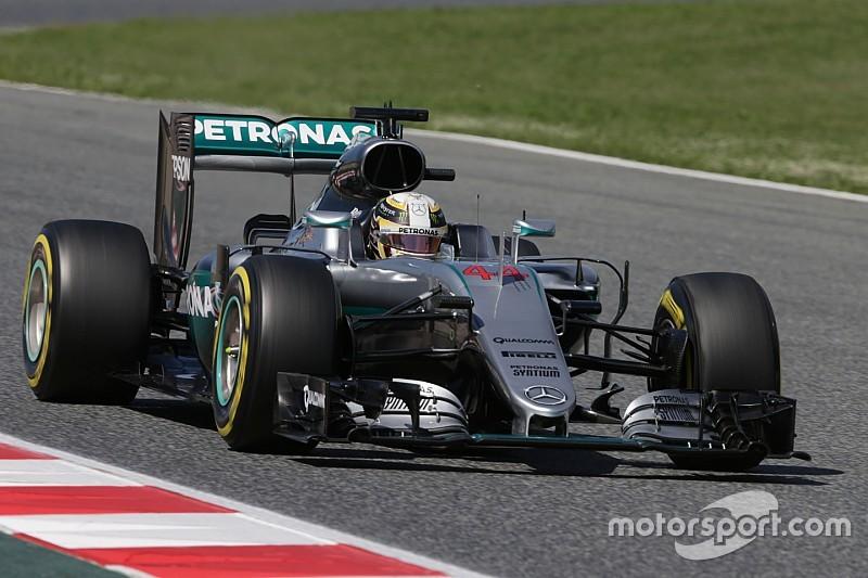 Hamilton risorge in Spagna, delude la Ferrari