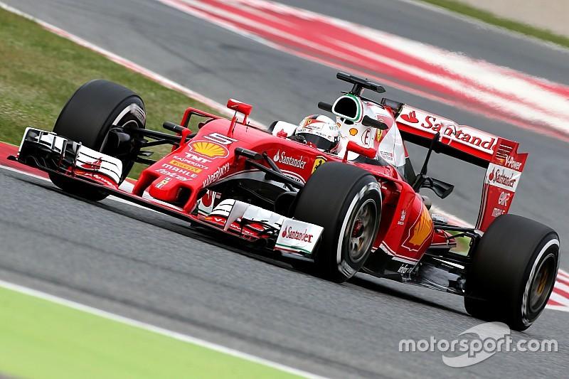 Test Barcellona, Day 1: Vettel e la Ferrari svettano davanti a Rosberg