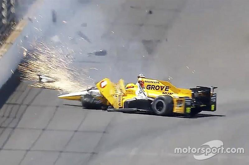 Video del choque de Spencer Pigot en la práctica de Indy de este miércoles