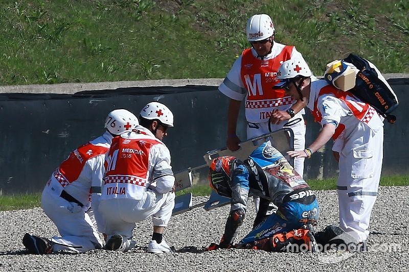 Rabat breekt sleutelbeen en doet niet mee aan Italiaanse GP