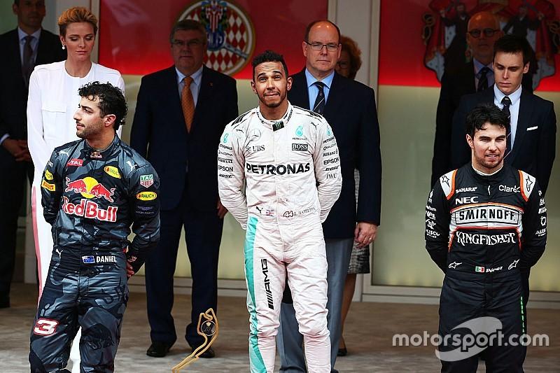 F1モナコGP決勝:ハミルトン今季初優勝。リカルドはまさかのミス。2戦連続で勝利を逃す