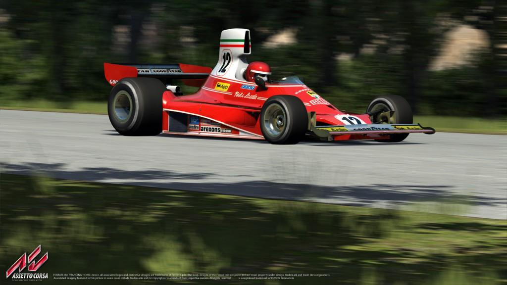 Assetto Corsa: A legendás Ferrari 312T a régi Hockenheim versenypályán