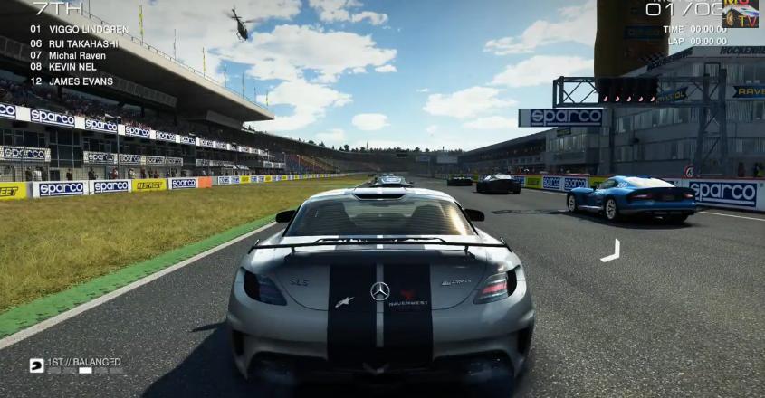 GRID Autosport: Mercedes SLS AMG Black Series a játékban