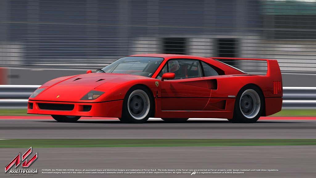 Assetto Corsa: Ferrari F40 – minden idők egyik legjobb sportautója